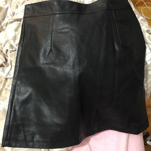 New with tags mini faux leather skirt